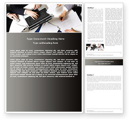 Consultation Word Template, 05255, Business — PoweredTemplate.com