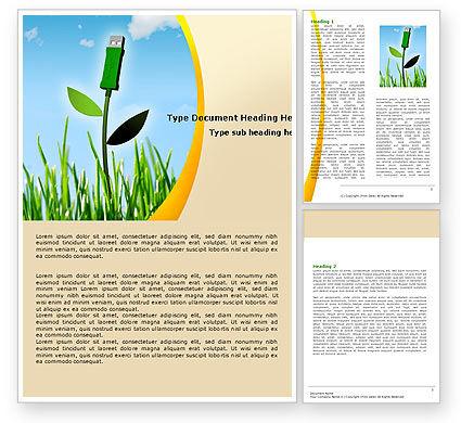 Nature & Environment: Bionics Word Template #05257