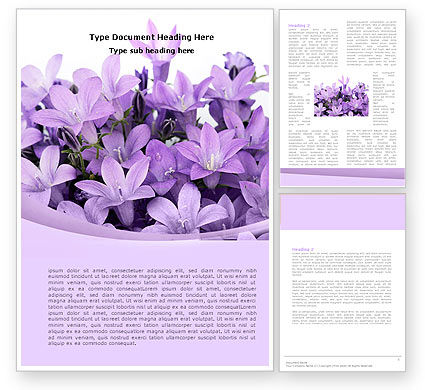 Holiday/Special Occasion: Bellflower Word Template #05259