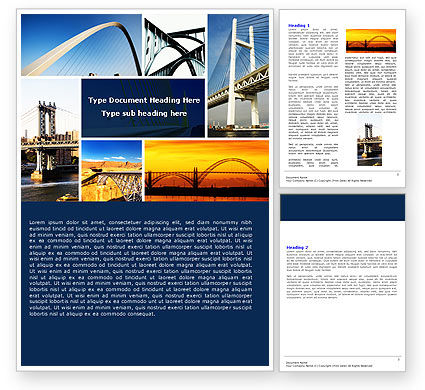 Construction: Bridges Word Template #05270