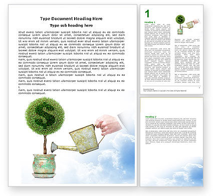 Money Tree Word Template, 05271, Financial/Accounting — PoweredTemplate.com