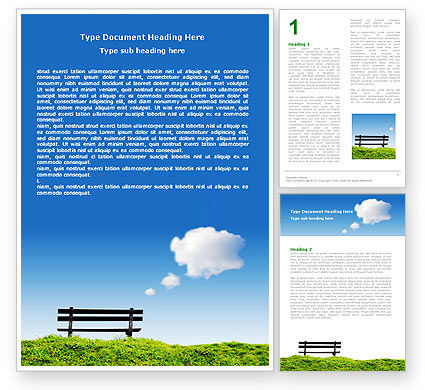 Nature & Environment: Bench Word Template #05275