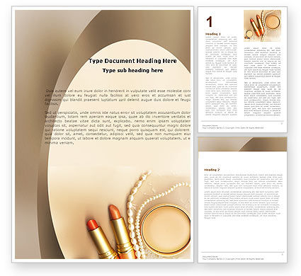 Femininity Word Template, 05276, Careers/Industry — PoweredTemplate.com