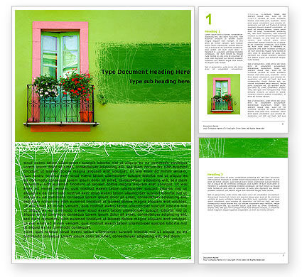 Abstract/Textures: Green Apartment Word Template #05277