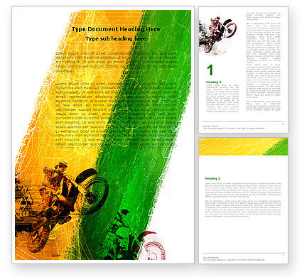 Sports: Motocross Word Template #05281