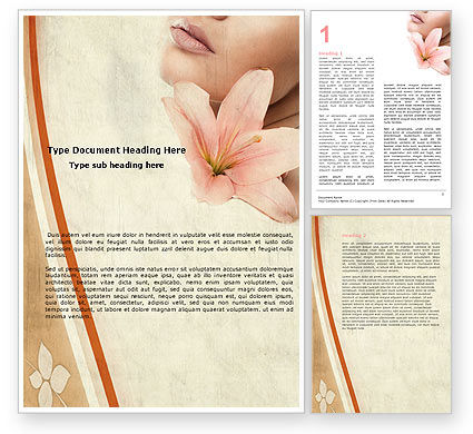 Abstract/Textures: Lily Word Template #05288