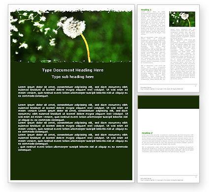 Nature & Environment: タラクサクム - Wordテンプレート #05297