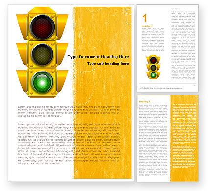 Education & Training: Traffic Light Word Template #05301