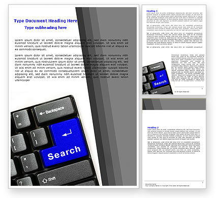 Web Search Word Template, 05303, Technology, Science & Computers — PoweredTemplate.com