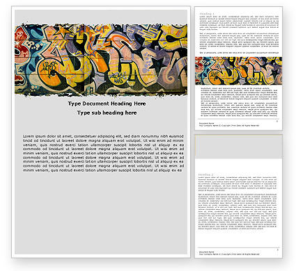 Art & Entertainment: Graffiti On The Wall Word Template #05308