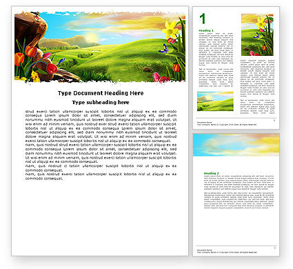 Nature & Environment: Fine Sunrise Word Template #05312