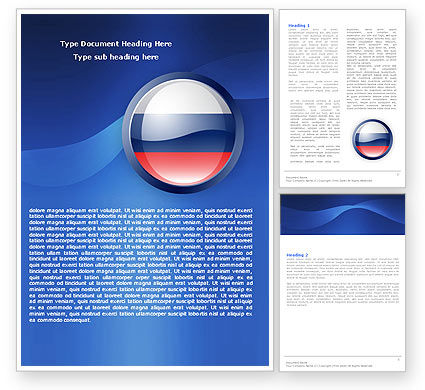 Russian Flag Word Template, 05313, Flags/International — PoweredTemplate.com