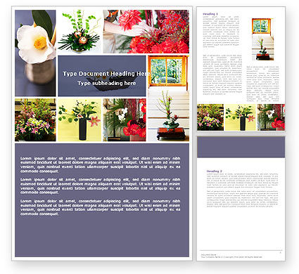 Ikebana Word Template, 05315, Careers/Industry — PoweredTemplate.com