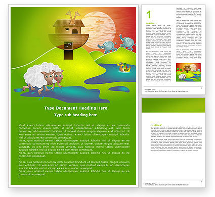 Education & Training: Free Noah's Ark Word Template #05316