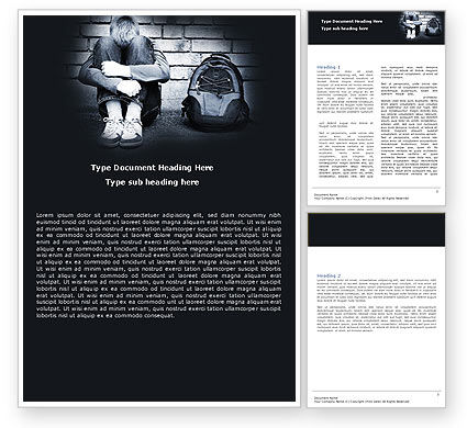 School Bullying Word Template, 05317, Consulting — PoweredTemplate.com