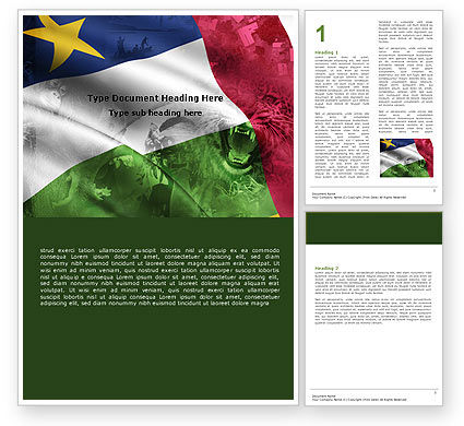 Central African Republic Word Template, 05323, Flags/International — PoweredTemplate.com