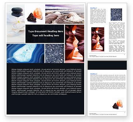 Minerals Word Template, 05330, Nature & Environment — PoweredTemplate.com