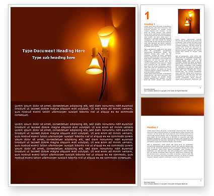 Free Lamps Word Template, 05331, Careers/Industry — PoweredTemplate.com