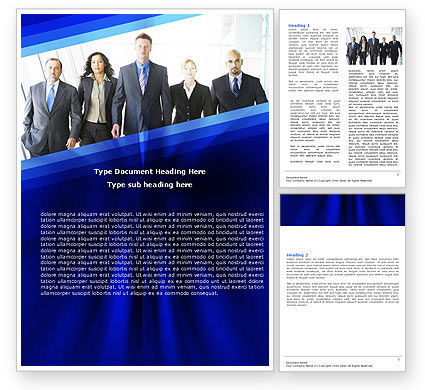 Business Professionals Word Template, 05332, Business — PoweredTemplate.com