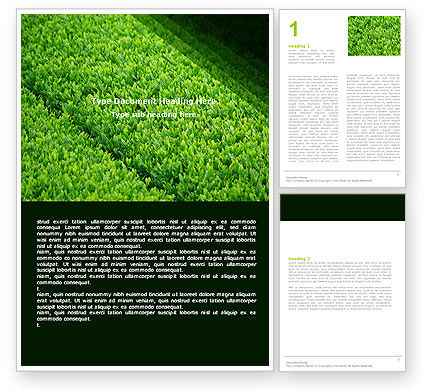 Green Grass Word Template
