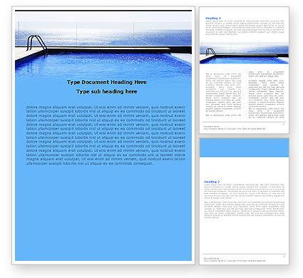 Pool On The Seashore Word Template, 05337, Careers/Industry — PoweredTemplate.com