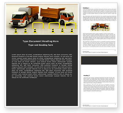 Cars/Transportation: Transport Trucks Word Template #05338