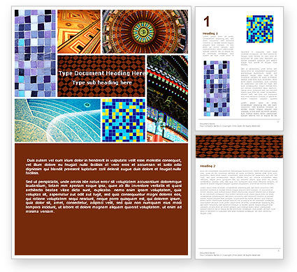 Art & Entertainment: Ceramic Mosaic Word Template #05339