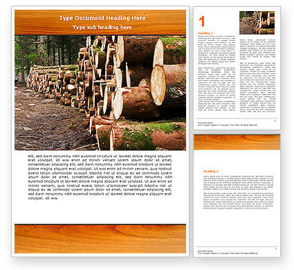 Careers/Industry: Saw Mill Word Template #05341