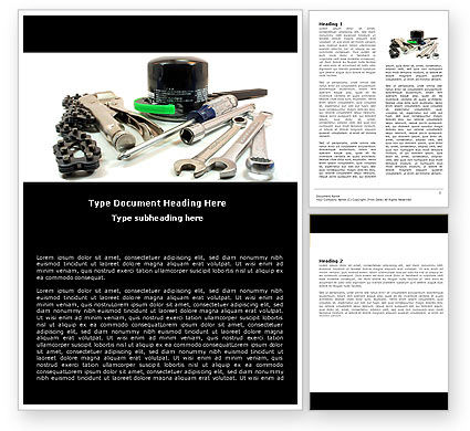 Utilities/Industrial: Motorcycle Tools Word Template #05342