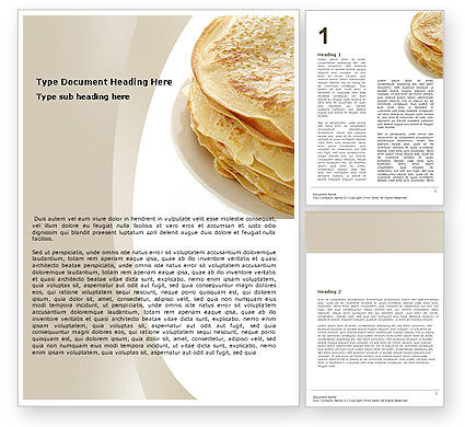 Food & Beverage: Pancakes Word Template #05343