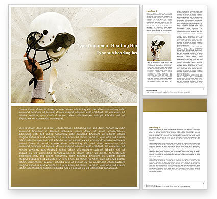 Sports: American Football League Word Template #05344
