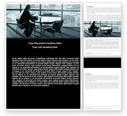 Waiting Word Template, 05351, Business — PoweredTemplate.com
