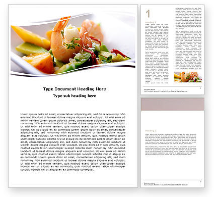 Shrimp Word Template, 05355, Food & Beverage — PoweredTemplate.com
