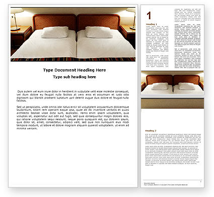 Motel Room Word Template, 05357, Careers/Industry — PoweredTemplate.com