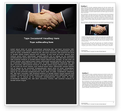 Business: Dealing Word Template #05359