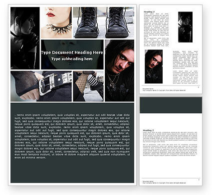Goth Culture Word Template, 05369, People — PoweredTemplate.com