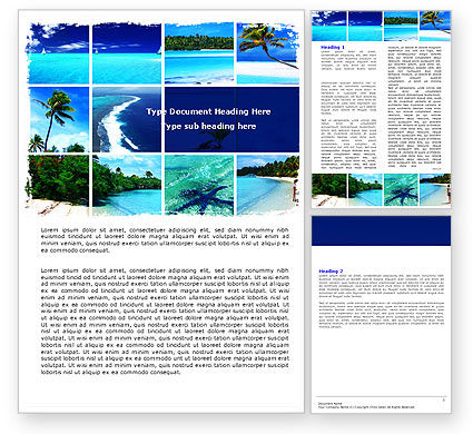 Careers/Industry: Exotic Beaches Word Template #05371