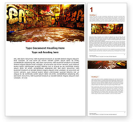 Art & Entertainment: Graffiti Zone Word Template #05376