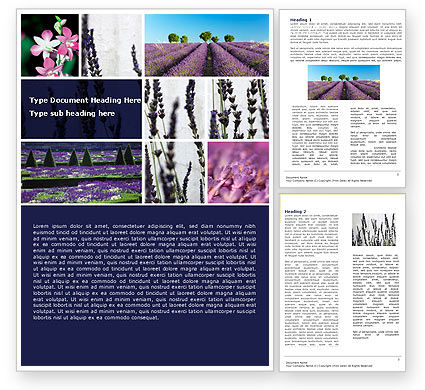 Agriculture and Animals: Lavender Word Template #05380