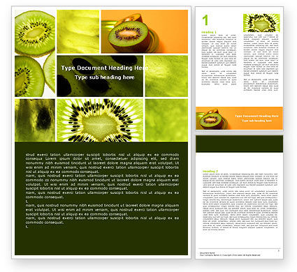 Food & Beverage: Kiwifruit Word Template #05382