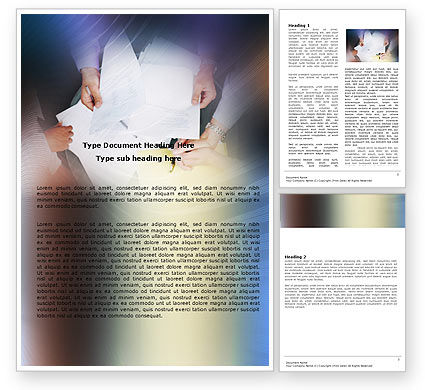 Business: Working With Papers Word Template #05390