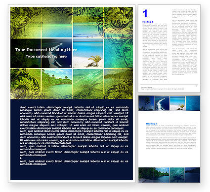 Exotic Islands Word Template, 05402, Careers/Industry — PoweredTemplate.com