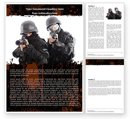 SWAT Word Template, 05404, Military — PoweredTemplate.com