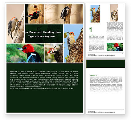 Agriculture and Animals: Woodpecker Word Template #05405