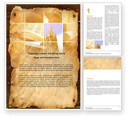 Religious/Spiritual: Holy Scripture Word Template #05416