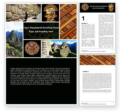 Education & Training: Inca Civilization Word Template #05422