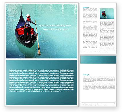 Flags/International: Gondola Word Template #05423