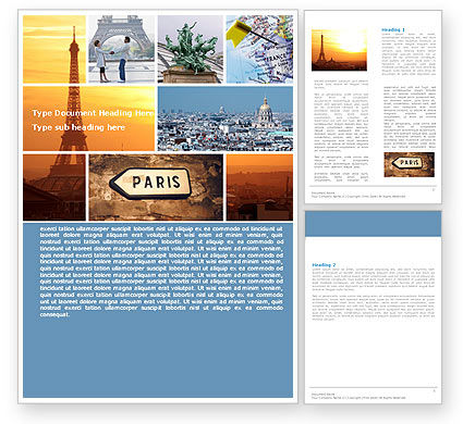 Paris In Collage Word Template