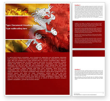 Bhutan Word Template, 05431, Flags/International — PoweredTemplate.com