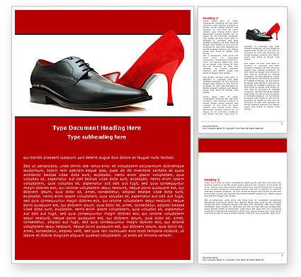 Footwear Word Template, 05435, Consulting — PoweredTemplate.com